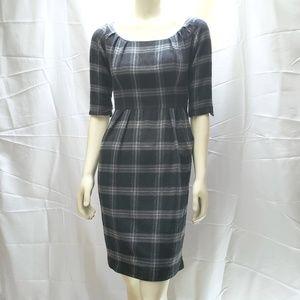 Zara 'Glen' Graham Tartan Wool Blend Sheath Dress